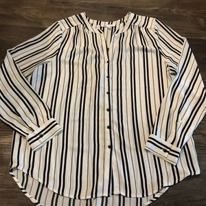 Black and white Stripe Blouse Size L